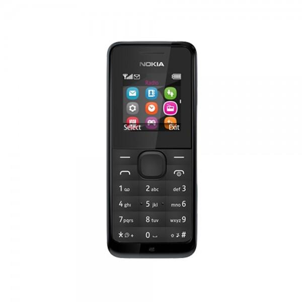 Handy Nokia 105 Mobiltelefon schwarz 3,7cm LCD/TFT Display