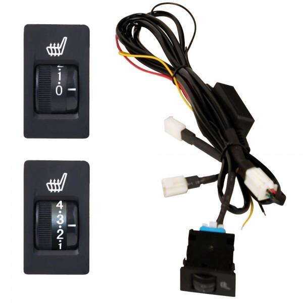 5 Stufen Schalter Viereckig mit Kabelsatz für Sitzheizung Nachrüstsatz