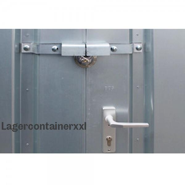 Einbruchsicherung - Einflügeltür für Materialcontainer
