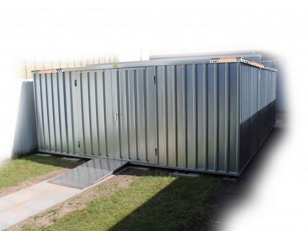 Leichtbauhalle - Schnellbauhalle mit Einflügeltür (BxLxH) 6300 x 4100 x 2445