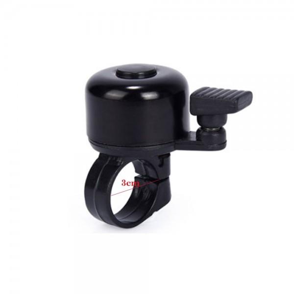 Fahrradglocke Glocke Klingel Fahrradklingel schwarz mit Halterung