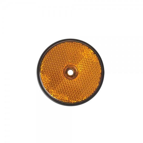 2x Reflektor orange Rückstrahler Seitenstrahler für Anhänger Wohnmobil Bauwagen