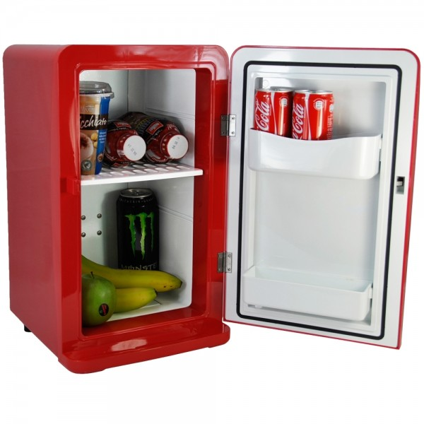 Mini Kühlschrank Kühlbox Kühler mit Wärmefunktion Wärmebox 12V / 230V 16L Rot
