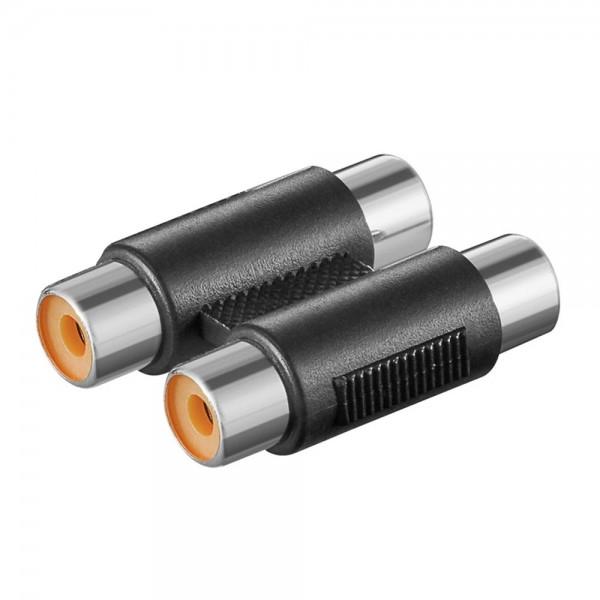Audio Adapter 2x Cinch Buchse auf 2x Cinch Buchse Kupplung Kabel Verbinder