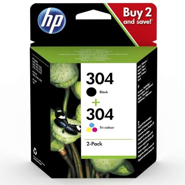 HP 304 Multipack Original Druckerpatronen Schwarz & Farbe für HP Drucker