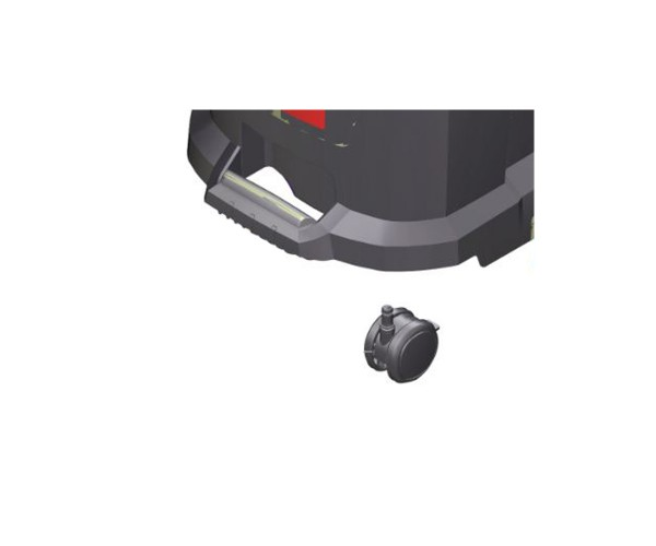 Kärcher Doppellenkrolle Rad mit Feststellbremse 6.435-893.0 passend für Staubsauger NT