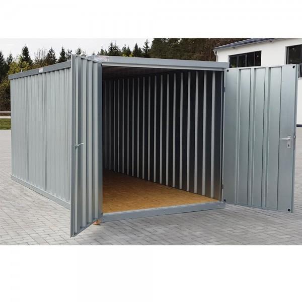 4m Materialcontainer- mit Doppelflügeltür und Kranösen 4100 x 2100 x 2100 mm