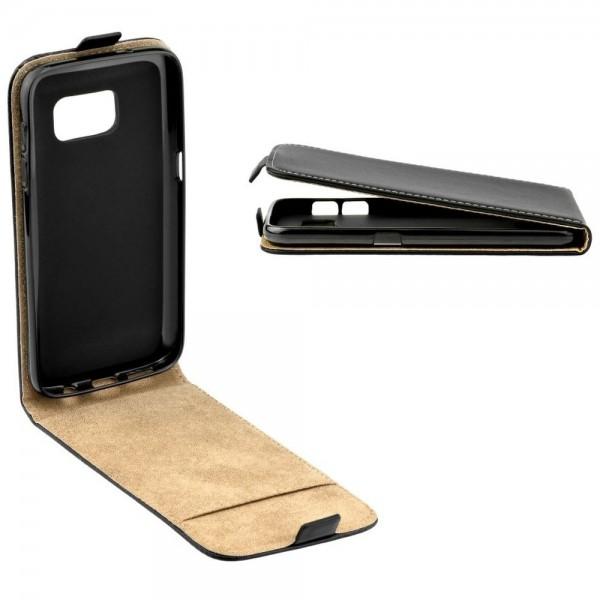Hartschale für iPhone X Schutzhülle Klapptasche Schwarz