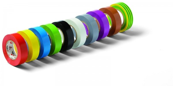 Isolierband Elektroisolierband aus PVC 15mmx10m braun