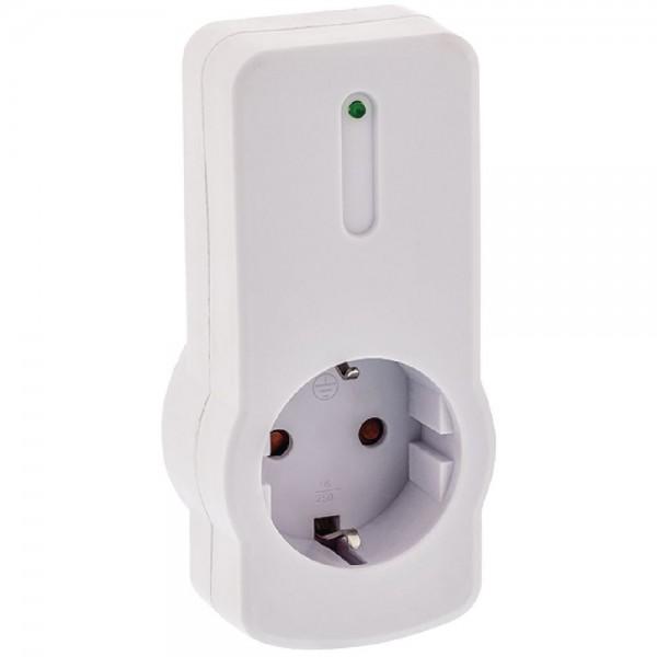 Funksteckdose zur Erweiterung von Steckdosen Funk Schalter CEE 7/3 Weiß