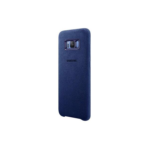 Schutzhülle Alcatara Cover Case Schale Blau für Samsung Galaxy S8 Plus EF-XG955