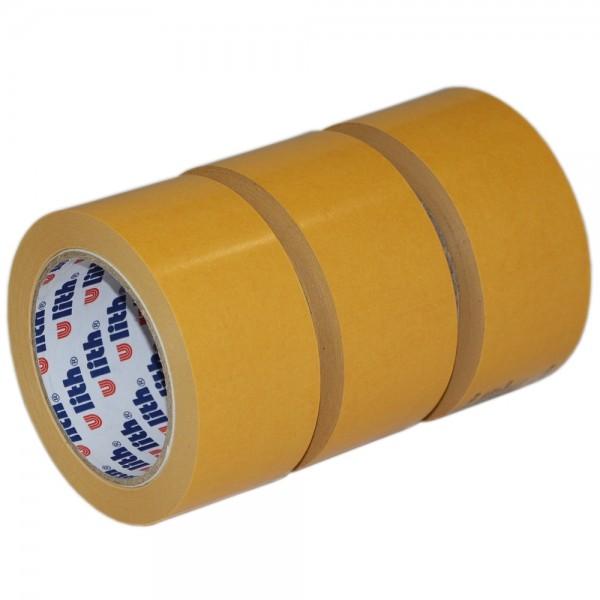 3x Beidseitiges Klebeband Verlegeband Doppelseitiges Teppichband 50mm x 25m