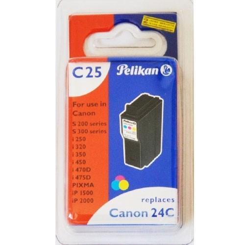 Pelikan C25 Druckerpatrone BCI- 24C für Canon Drucker ersetzt Original Patrone