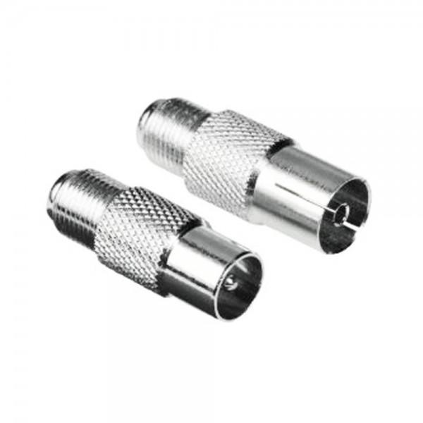 SAT Adapter Set F-Kupplung Koax Stecker auf F-Kupplung Koax Kupplung