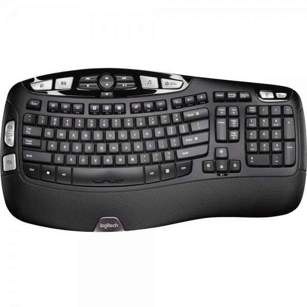 Logitech Funk Tastatur K350 Deutsch Desktop Wireless QWERTZ Zusatztasten