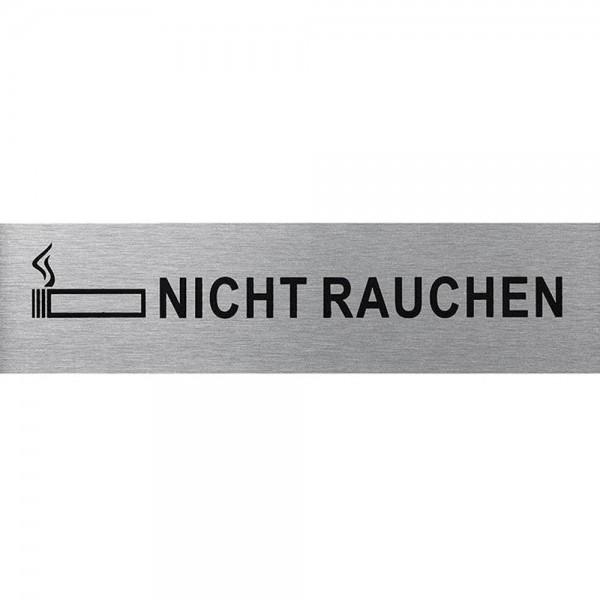Türschild Hinweisschild NICHT RAUCHEN Schild Alu 160x40mm