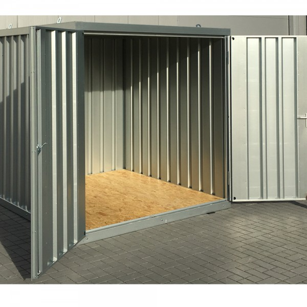 2m Schnellbaucontainer Lagercontainer Baucontainer Matrialcontainer 2100 x 2100 x 2100 mm