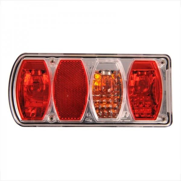Rückleuchte 6 Funktionen 222x100mm recht & links für Anhänger Deichsel Wohnwagen