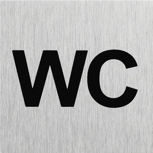 Türschild Hinweisschild WC Schild Alu 60x60mm