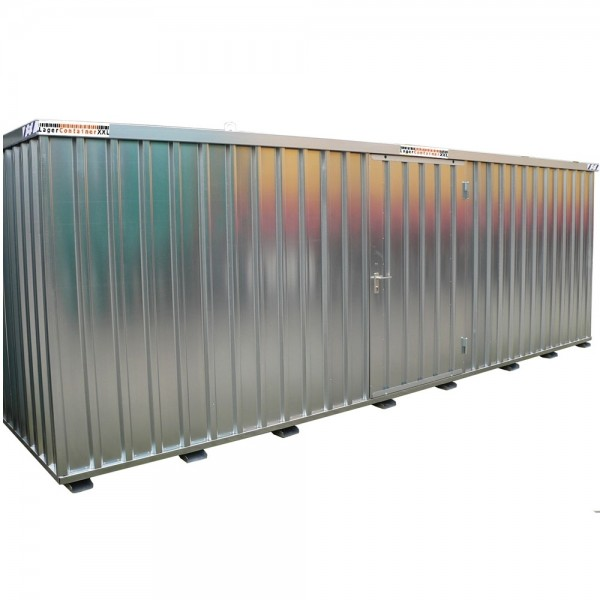 5m Materialcontainer - mit Einflügeltür, Kranösen und Staplerführung - 5100 x 2100 x 2100 mm