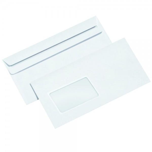 1000x Briefumschlag DIN lang selbstklebend weiß Briefumschläge mit Fenster