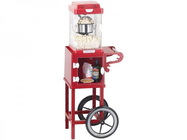 Popcornmaschine Popcornwagen Popcornrollwagen im 50er-Stil rot 230V