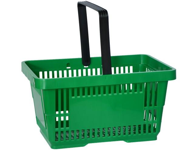 Einkaufskorb Tragekorb Verkaufskorb mit Griff grün 22l 30kg