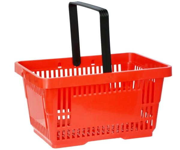 Einkaufskorb Tragekorb Verkaufskorb mit Griff rot 22l 30kg