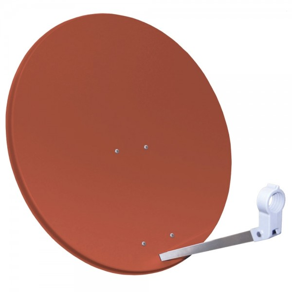 Megasat SAT-Antenne Stahlspiegel SAT-Schüssel Parabolantenne 80cm Rot