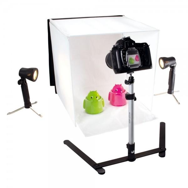 Professionelles Mini Fotostudio Ministudio 60x60cm Aufklappbar