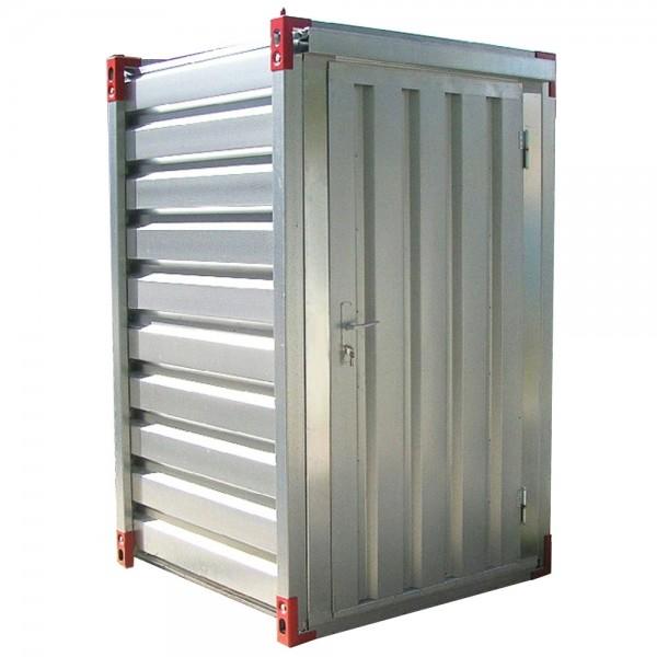 Mini Lagercontainer - mit Einflügeltür 1,26 x 1,38 x 2,20m