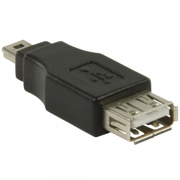 USB Adapter USB 2.0 Buchse Kupplung Typ A - mini USB Stecker