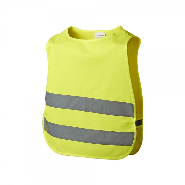 Kinder Sicherheitsweste gelb Weste Warnweste Sicherheitswarnweste KFZ Auto