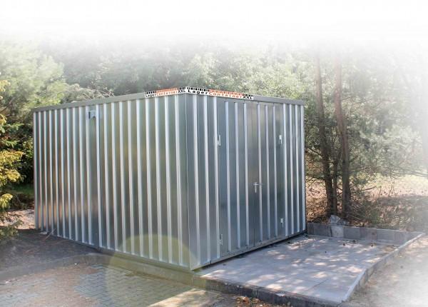 Leichtbauhalle - Blechhalle mit Einflügeltür (BxLxH) 4200 x 4100 x 2100