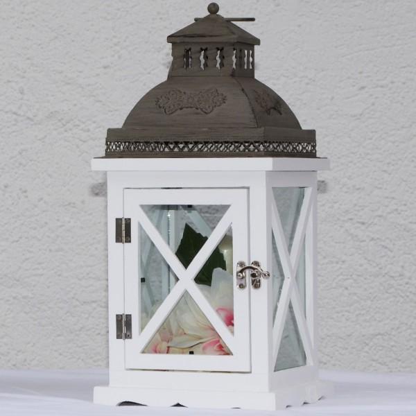 Systafex Laterne Gartenlaterne ML-1160 Kerzenhalter Gartenlampe 39 cm klein