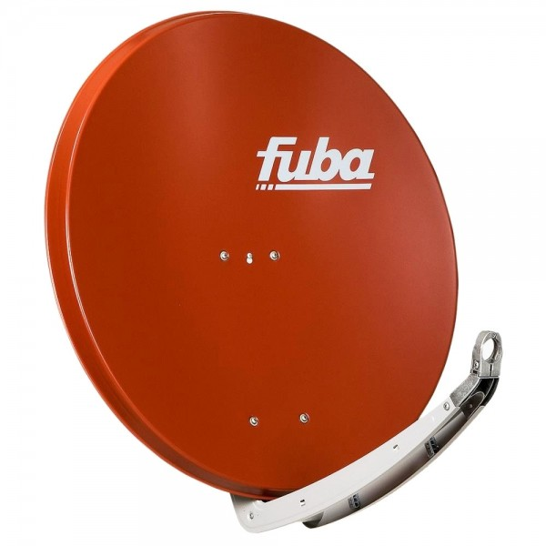 Fuba SAT-Antenne Stahlspiegel SAT-Schüssel Parabolantenne 85cm Rot