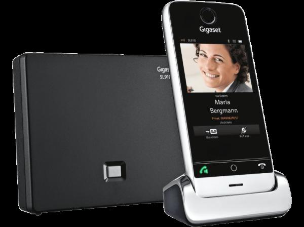 Siemens Gigaset SL910A schnurloses Telefon Full-Touch mit Anrufbeantworter