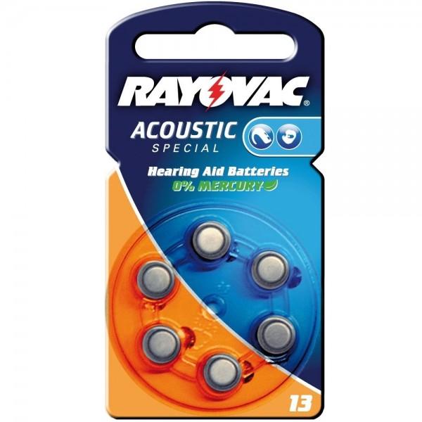 6x Batterie PR48 13A V13 1,4V Rayovac Knopfzelle für Hörgergäte