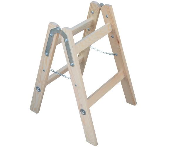 Leiter Doppelstufenleiter Stehleiter Holzleiter 2x 2 Stufen Höhe 0,65m