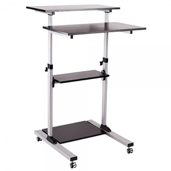Computerschreibtisch Steh Bürotisch Mobiler ergonomischer Stand-up Schreibtisch