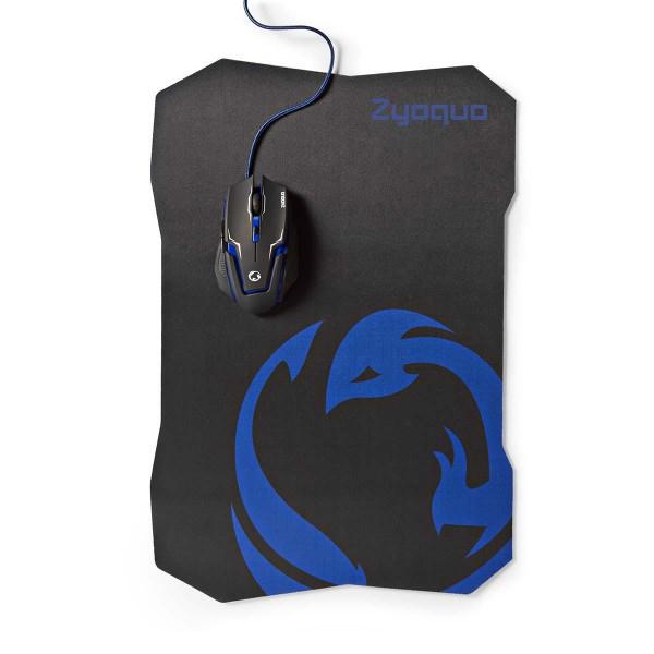 USB Maus Kabelmaus Nedis Gaming Maus Mouspad Set 2400DPI 7 Tasten für Computer