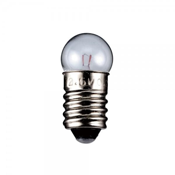 Lampe Glühlampe Glühbirne Kugelformig E10 2,4W 6V Ersatzlampe