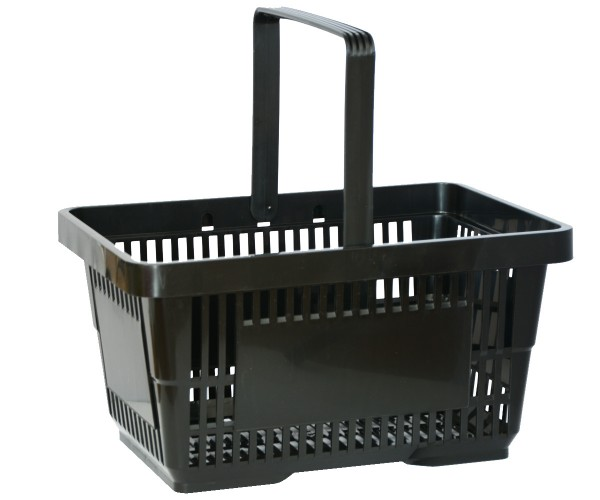 Einkaufskorb Tragekorb Verkaufskorb mit Griff schwarz 22l 30kg