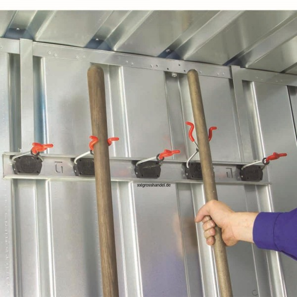 Container Gerätehalterung - Geräteleiste zum Einhängen von Stielgeräten