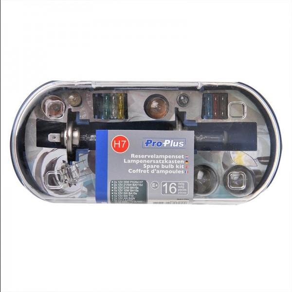 KFZ Auto Lampenersatzkasten Glühlampen Birnen Lichtlampen H7 SET 16 teilig