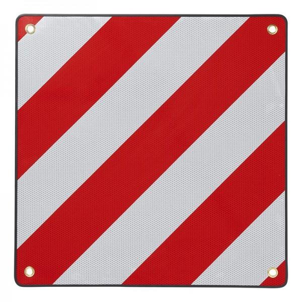 Aluminium Warntafel rot-weiß 50x50cm reflektierend für Italien für Wohnmobil Boot Fahrradträger