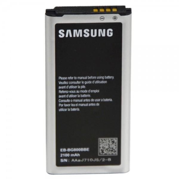 Original Akku für Samsung Galaxy S5 mini SM-G800F EG-BG8000 2100mAh Li-Ion 3,85V
