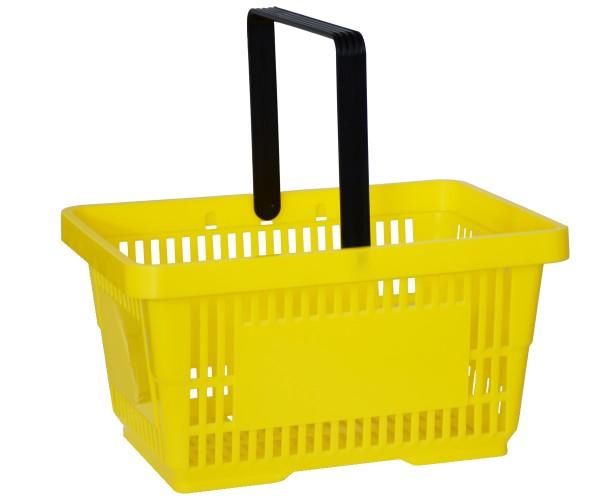 Einkaufskorb Tragekorb Verkaufskorb mit Griff gelb 22l 30kg