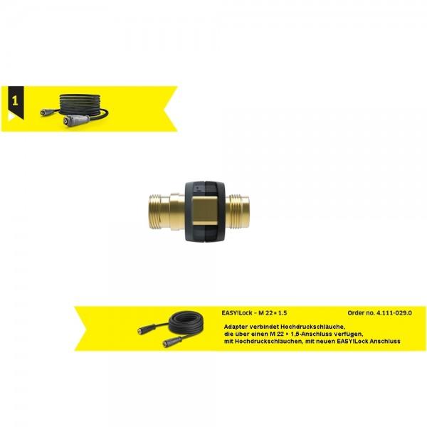 Adapter EASY!Lock 1 Verbinder für Kärcher Hochdruckreiniger Schlauch & Schlauch