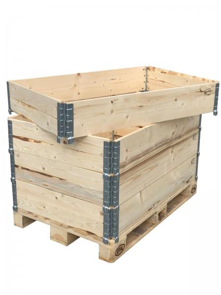 Aufsatzrahmen Holzaufsatzrahmen Palettenrahmen Hochbeet faltbar Pflanzenbeet 1200x800x195 mm